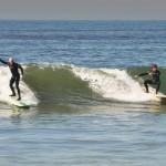 Ed and Art split a wave at bolsa
