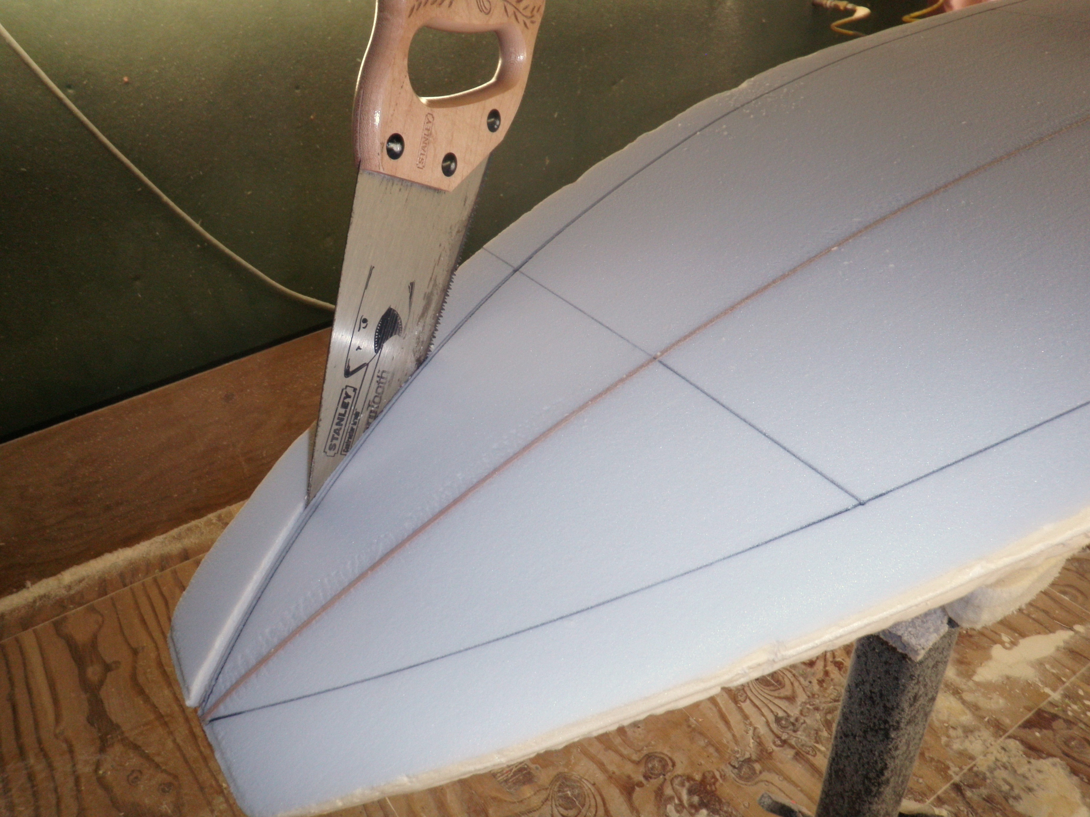 The g-board is being shaped!