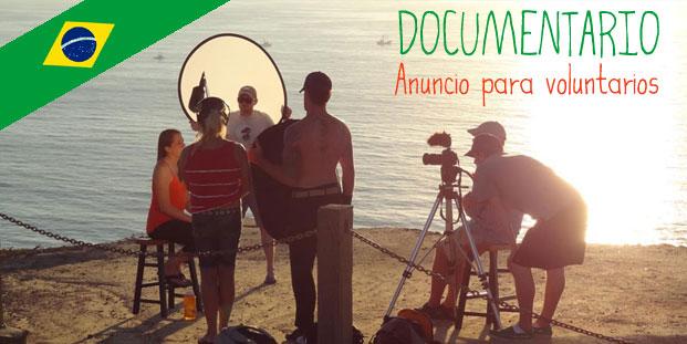 Documentário – Anuncio para voluntarios