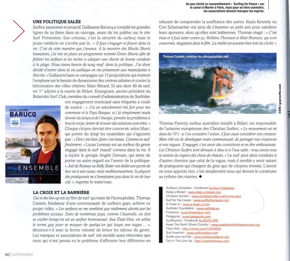 Surfeurs engagés (article Surf Session) FRANCE