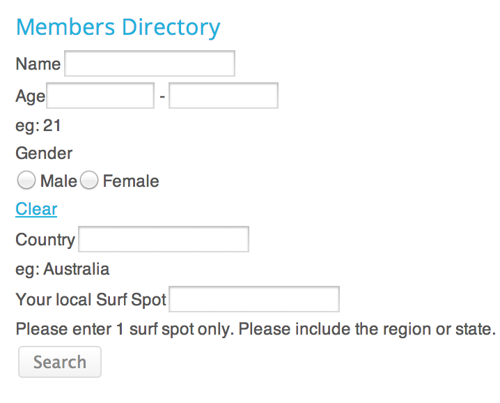 Added members search